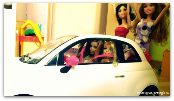 Barbie en fiat 500 bis