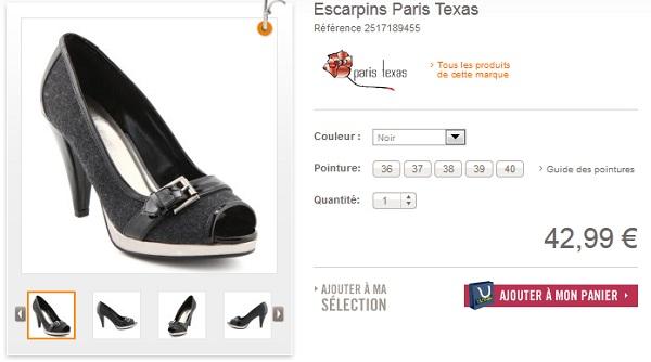 Escarpins femme Paris Texas