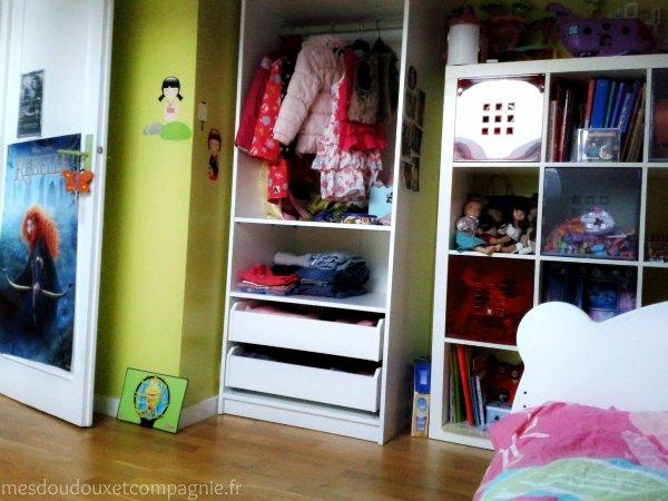 Armoire pax 75cm chambre fille 2 mes doudoux et - Chambre fille 7 ans ...