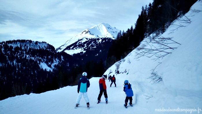 leçons de ski en famille avec moniteur