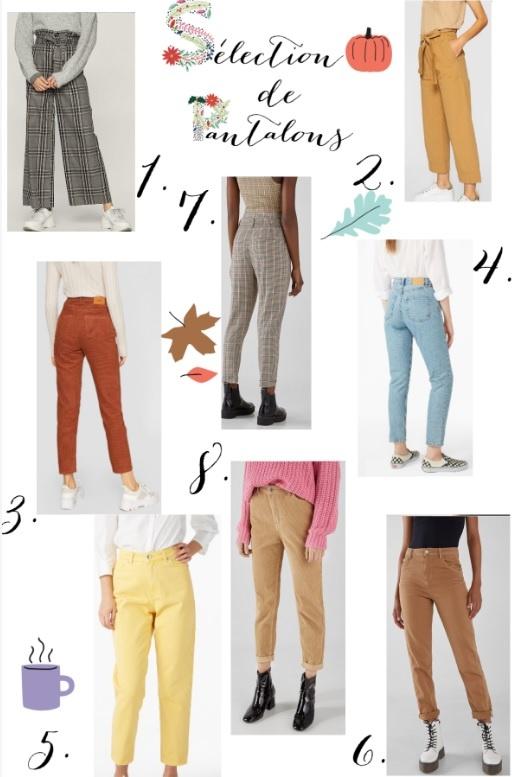 selection pantalons automne
