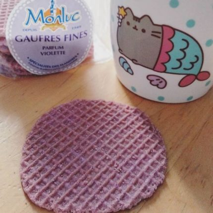 semaine 15 2019 gaufres fines violette
