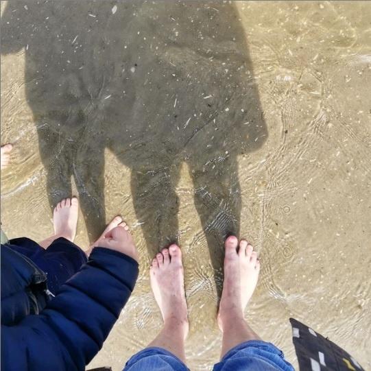 sortie mer plage avec des élèves de maternelle en étant brigade zil